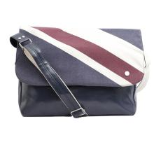 Ben Sherman Union print messenger Bag